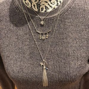🆕$8w/bundle 2+ GUESS Silver-Tone Layered Necklace